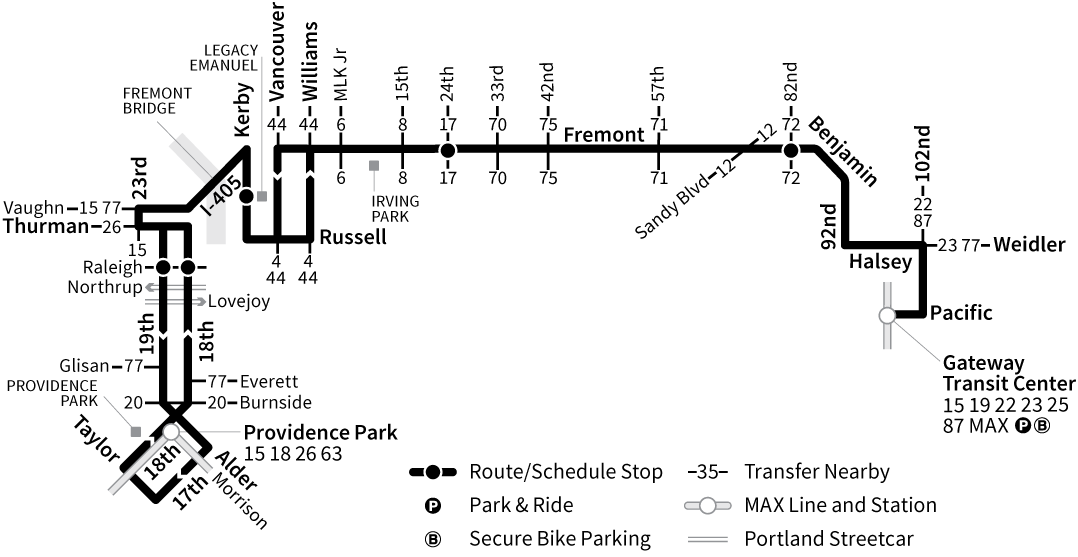 Bus Line 24 route map